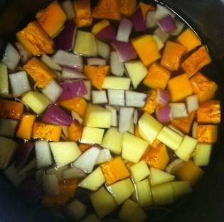 butternut squash soup before