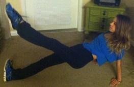 reverse leg-lift plank