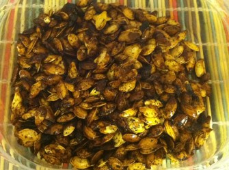 roasted pumpkin seed cooled