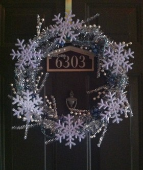 Frozen inspired Christmas wreath