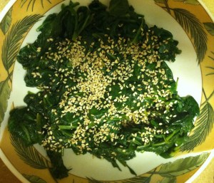spinach seaweed