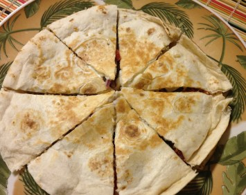 quinoa quesadillas finished product