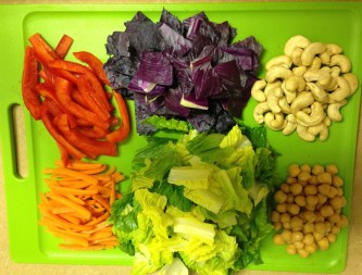 Thai Chopped Salad ingredients