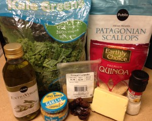 scallop kale salad ingredients