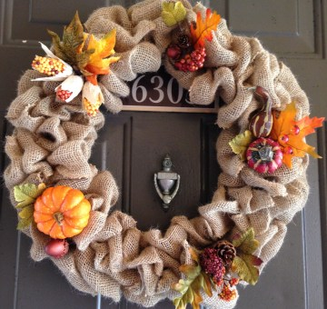 autumn harvest wreath finished product
