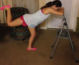 barre glute exercise