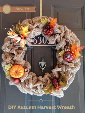 diy autumn harvest wreath