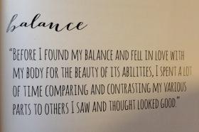 Breaking Vegan quote - balance
