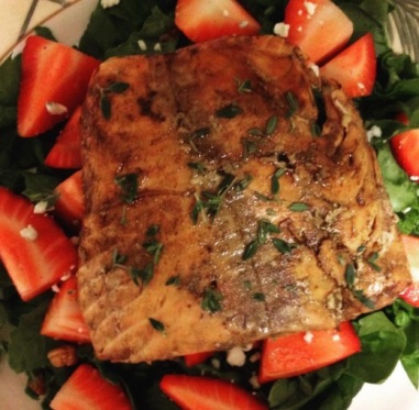 Salmon Strawberry Salad