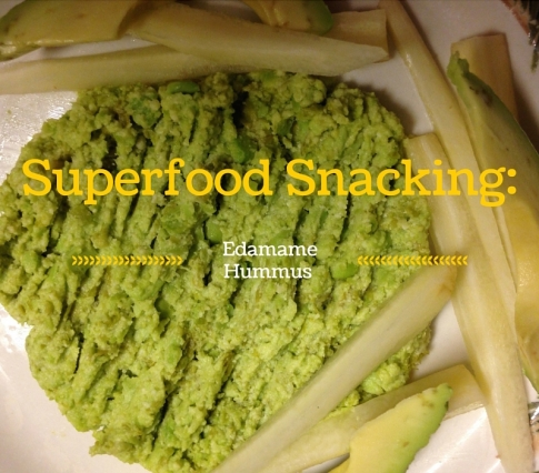 superfood snacking edamame hummus