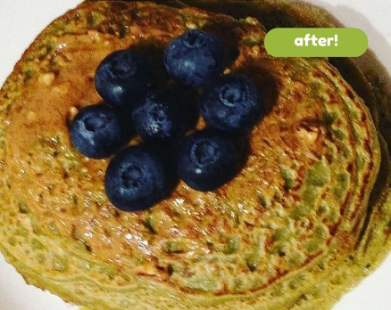 matcha pancakes after pic
