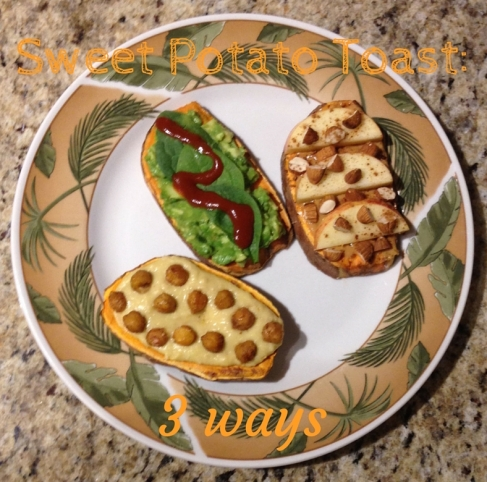 sweet potato toast three ways